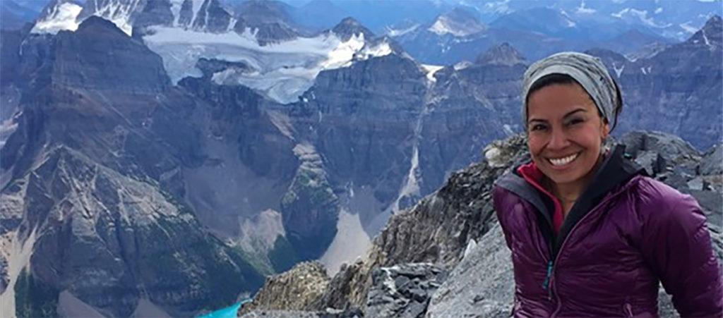 Georgina on a climb